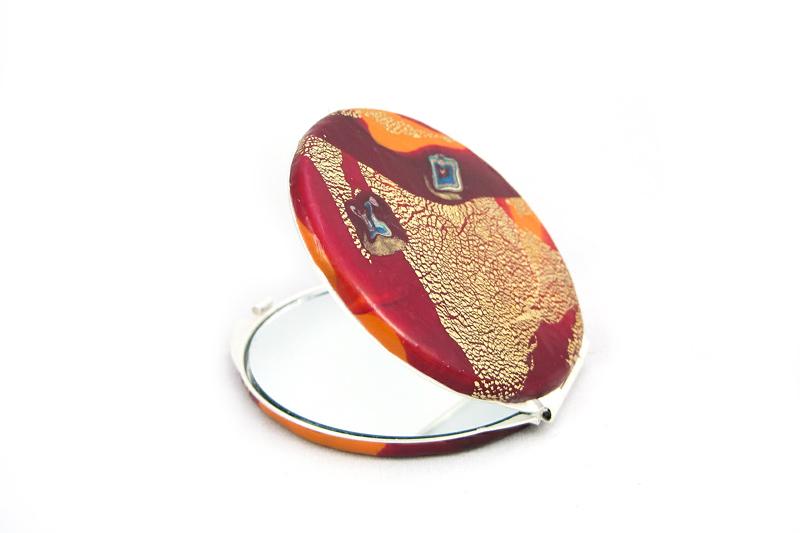 espejo de bolso fuego