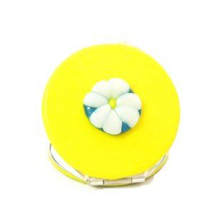 espejo de bolso margarita amarilla